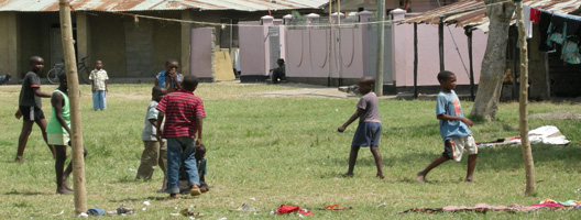 Children Bagamoyo playing footyball